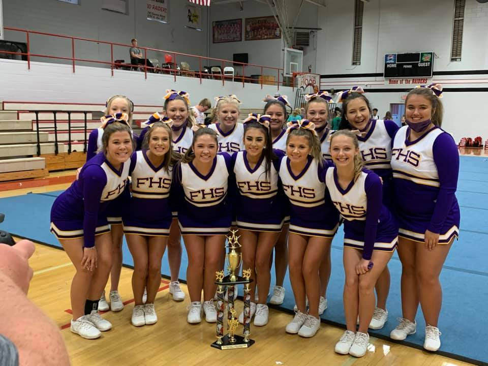 Varsity Cheerleaders Win Cullman County Cheer Competition