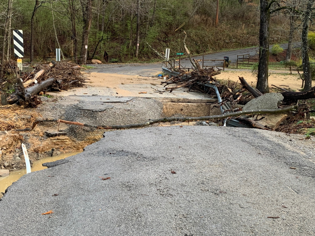 Storm Damage to Roads March 17, 2021