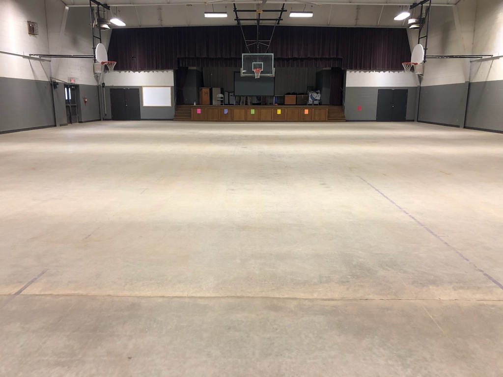 Hanceville Elem gym floor replacement