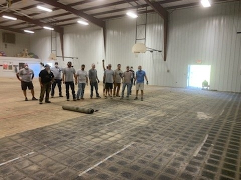 West Point Elementary Gym Floor Replacement