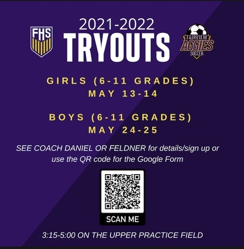 Soccer Tryout Information!